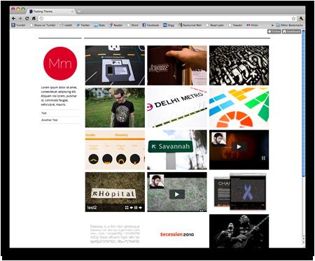 hasaportfolio is a free theme that turns your tumblr into a portfolio